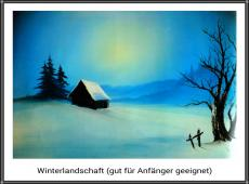 Bob Ross Winterlandschaft
