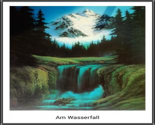 Bob Ross Am Wasserfall
