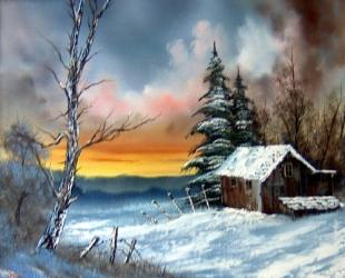 Bob Ross Winterlandschaft 01