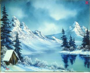 Bob Ross Winterzauber